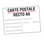 carte postale recto